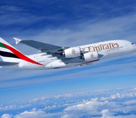 Emirates Image - A380 - Air to air