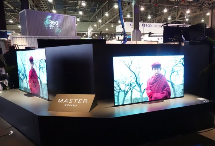 Sony Master Series being showcased at the Sony booth, CES 2019
