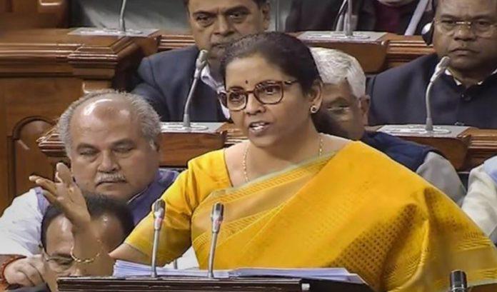 India Finance Minister Nirmala Sitharaman