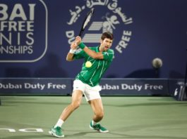 Novak Djokovic semis Dubai