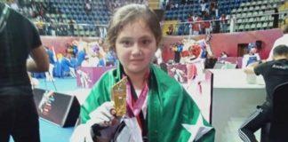 Pakistani Aysha Ayaz Taekwondo champion